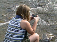 Hannah waits for her shot - Lower Nolichucky, TN