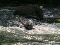 Bare-handed surf - Jess - Lower Nolichucky, TN