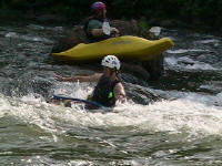 Jess bare-hand surfs - Lower Nolichucky, TN