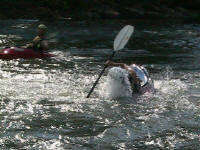 Jess paddle rolls - Lower Nolichucky, TN