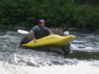 Matt gets back in the boat - Lower Nolichucky, TN