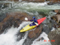 Rick runs Ten Foot Falls, Wilson Creek, NC